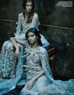 Aquatic Heaven ELIE SAAB Haute Couture Autumn Winter 2016-17 for Harper's Bazaar India styled by Errikos Andreou.