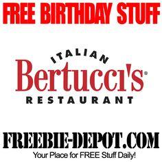 BIRTHDAY FREEBIE – Bertucci's - FREE BDay Cake