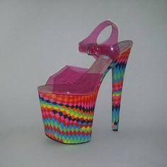5f0ce990dd7 Pole dancing shoes Stripper shoes Exotic dancer heels High platform shoes  UV satin shoes Dragqueen s