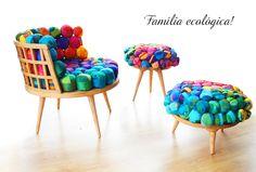 Móveis coloridos e eco-friendly - COPY&PASTE - Dicas de decoraçao, artesanato, material reciclavel, casas e ideias