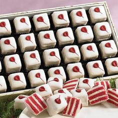 valentine petit fours - Google Search