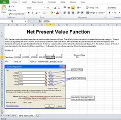 Business plan template excel excel templates pinterest professional net present value calculator excel template cheaphphosting Images