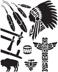 "Leather Kits - Leathercraft Easy To Use Stencil 7""X9"" - Native American"