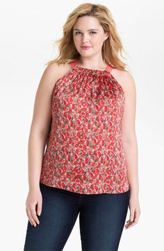 Tahari Woman 'Dawn' Sleeveless Print Blouse (Plus) available at #Nordstrom