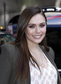 Elizabeth Olsen at The Late Show With David Letterman in New York City, May 6, 2014.