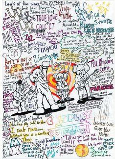 Coldplay fan-art, featuring my favotie songs.hope you enjoy it