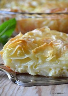 Achma recipe - Recipes of Caucasian cuisine Georgian Cuisine, Georgian Food, Russian Desserts, Russian Recipes, Good Food, Yummy Food, Cooking Recipes, Healthy Recipes, Cooking Kale