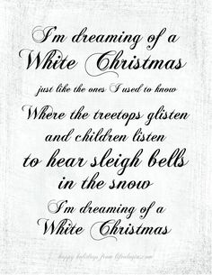 i'm dreaming of a white christmas - Google Search