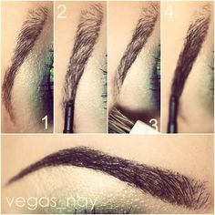 ✨EYE BROW TUTORIAL✨ 1.) Have your eyebrows threaded, cut and cleaned for an easy application 2.) Brush brows & start by lining your bottom brow w/ MAC's SPIKED eye brow pencil (or which ever color matches you best) 3.) Then line top brow and stop where arch begins 4.) Brush brows again 5.) lastly begin to shade in lines so they meet using light strokes and draw in arch and follow through at end of brow. I tend to go darker towards the end of brows 6.) Be careful not to draw your arch down…