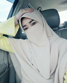 Hijabi Girl, Girl Hijab, Wedding Abaya, Niqab Fashion, Face Veil, Arab Girls Hijab, Hidden Beauty, Beautiful Hijab, Girl With Hat