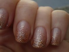 glitter nails {simple and pretty}
