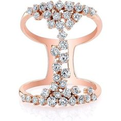 Anne Sisteron 14kt Rose Gold Diamond Lace Ring as seen on Carrie Underwood