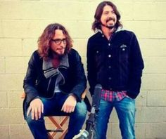 Chris Cornell and Dave Grohl
