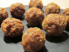 Polpette, meat round ball fried.