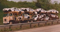 Ex-Anchor Chevy 90 with PSSP cars by PAcarhauler, via Flickr