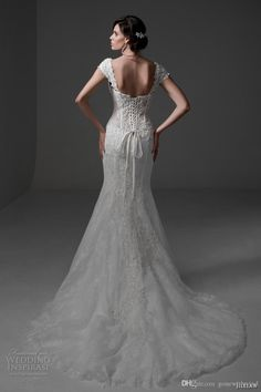 Sexy Mermaid Wedding Dresses 2017 Chapel Train Cap Sleeves Sweetheart Neckline Bustier Bodice Full Embellishment Lace Wedding Gowns Wedding Dress Brand Wedding Dresses Affordable From Gonewithwind, $804.03  Dhgate.Com