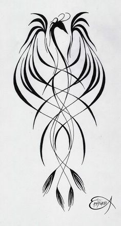phoenix-I'd get this in watercolor orange, red, and yellow probably on my upper arm or side. starting centered at my lower chest and spread into rib cage with other tattoos Neue Tattoos, Body Art Tattoos, Phoenix Bird, Painting & Drawing, Future Tattoos, Get A Tattoo, Skin Art, Beautiful Tattoos, Tattoo Inspiration