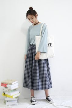 Love the shirt and skirt together but I think some different shoes would look better with it