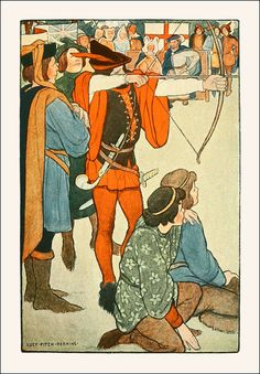 Robin Hood: his deeds and adventures as recounted in the old English ballads. Selected and illustrated by Lucy Fitch Perkins. Published 19...