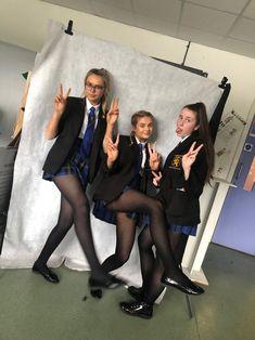 British School Uniform, Japanese School Uniform Girl, School Uniform Fashion, School Girl Dress, School Uniform Girls, In Pantyhose, Pantyhose Outfits, Nylons, Cute School Uniforms