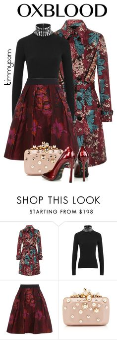 """""""Oxblood #2"""" by timmypom ❤ liked on Polyvore featuring мода, Burberry, Alexander Wang, Coast, Elie Saab, Kim Kwang, skirt, oxblood и turtleneck"""