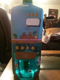 Super Mario Vodka Bottle