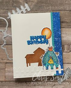 Hey Birthday Chick Stampin Up card by Chris Smith Woven Image, Crazy About You, Borders For Paper, Watercolor Pencils, Animal Cards, Instagram Accounts, Your Cards, Thank You Cards, Really Cool Stuff