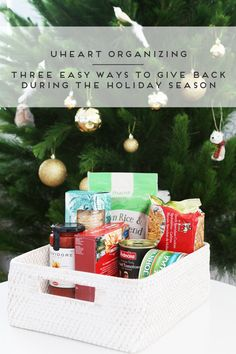 8 uheart organizing three easy ways to give back during the holiday season - Organizing Christmas Decorations