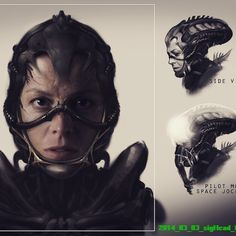 """Guess what? Neill Blomkamp was working on a secret Alien project that included Sigourney Weaver reuniting with Corporal Hicks, and the concept art is gorgeous. But now it's dead, or was never going to be made, and I'm just going to scream """"PROMETHEUS"""" into a pillow all day until I pass out from lack of air."""