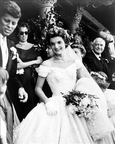 Jackie Kennedy at her wedding to JFK