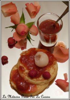 Confiture Ispahan : framboises, litchis et rose
