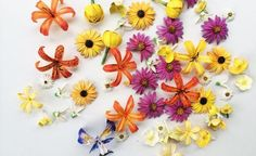 2016 Wedding Trends: 3-D Printing / printed and painted flowers