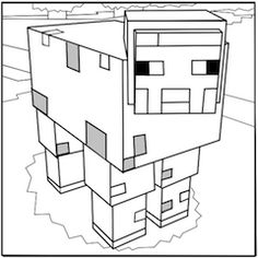 Printable Minecraft Sheep coloring pages.