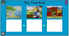 After watching the animated version of The Train Ride, have children order the main events of the story in this storyboard activity by clicking on the text to put it in the correct sequence. You may also choose to have children work with a partner to retell the story. Train Activities, Book Activities, Transport Topics, Einstein, Mathematicians, Book Week, Retelling, Working With Children, Eyfs