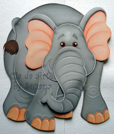 Paper Punch Art, Paper Art, Elephant Paper Piecing, Foam Crafts, Paper Crafts, Art For Kids, Crafts For Kids, Foam Carving, Baby Shower Labels