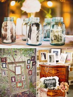 38 Creative Ways to Honor Your Parents at Your Wedding - Memory Decoration & Displays