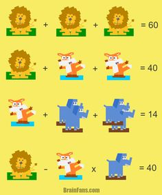 "Solve this animal puzzle with three ""variables"". Please do not hesitate and answer directly - you can do it!"