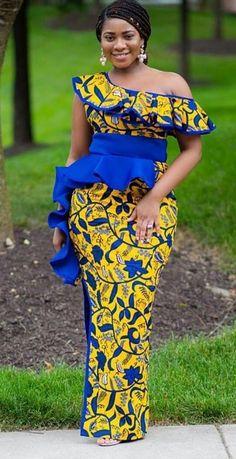 Schöne Ankara Mode Outfits Schöne Ankara Mode o Latest African Fashion Dresses, African Dresses For Women, African Print Dresses, African Attire, African Print Fashion, African Women, Ankara Fashion, African Prints, African Lace
