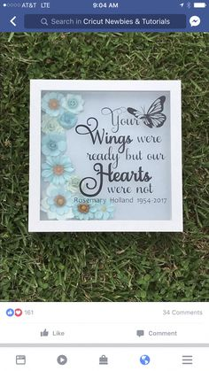 Triple P Parenting #ParentingTipsForToddlers Diy Shadow Box, Shadow Box Frames, Vinyl Projects, Craft Projects, Flower Shadow Box, Frame Crafts, Memorial Gifts, Memorial Ideas, Silhouette Cameo Projects