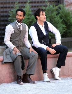 Andre Holland, Clive Owen on the set of The Knick Andre Holland, The Knick, Clive Owen, Wall Of Fame, Family Affair, Screenwriting, Colour Images, Movie Tv, Eye Candy