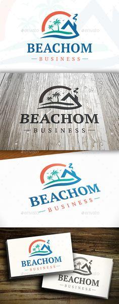 Temple Logo, Beach Logo, Logos Ideas, Construction Logo Design, Resort Logo, Building Logo, Waves Logo, Architecture Logo, Hotel Logo