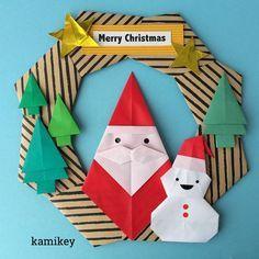 いいね!366件、コメント12件 ― カミキィ 🇯🇵(kamikey)さん(@kamikey_origami)のInstagramアカウント: 「今日の札幌は外が真っ白、すぐにクリスマスが来てもいいような雪の日でした⛄️ スタンダードなクリスマスカラーのリース🎅…」