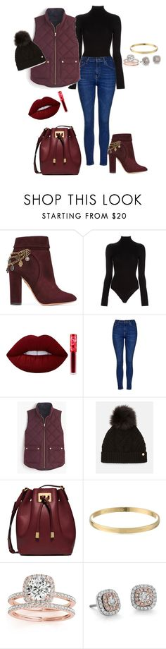 """Vampy Lip"" by breezygurl88 ❤ liked on Polyvore featuring Aquazzura, L'Agence, Lime Crime, Topshop, J.Crew, Ted Baker, Michael Kors, Kate Spade, Allurez and Blue Nile"