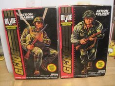 GI JOE 30TH ANNIVERSARY 1964/1994 ARMY MARINE 3.75 INCH PLASTIC TOY SOLDIERS LOT…