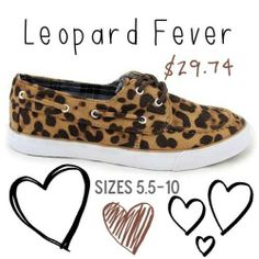 How cute are our new leopard shoes?! We are in love! Get yours before they are gone!