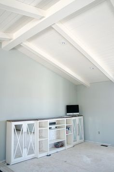Beautiful beamed and planked ceiling! Also... I like the recessed lights. I think we need to replace ours with something more flush like these. IHeart Organizing: IHeart Kitchen Reno: The Difference a Week Makes (and Paint!)