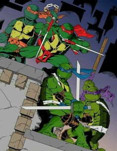 Ninja Turtles Art, Teenage Mutant Ninja Turtles, Comic Books Art, Comic Art, Book Art, Turtles Forever, Cartoon Turtle, Dc Comics, Batman The Animated Series