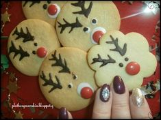 ΜΠΙΣΚΟΤΑ   ΒΟΥΤΥΡΟΥ ΡΟΥΝΤΟΛΦ Christmas Cooking, Christmas Art, Xmas, Christmas Ornaments, Christmas Recipes, Biscotti, Gingerbread Cookies, Cake Decorating, Recipies