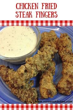 Chicken fried steak fingers are an excellent option and alternative to traditional chicken fried steak! These cook up much faster and are easy to portion out for your family. Make some white gravy from the extra Chicken Fried Steak Easy, Chicken Gravy, Chicken Dips, Chicken Recipes, Steak Recipes, Cooking Recipes, Steak Fingers, Hamburger Dishes, Southern Recipes