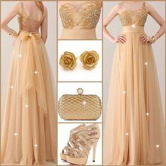 One-shoulder beading prom dress